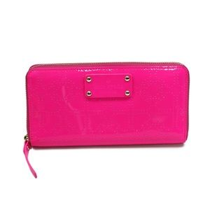 kate spade Patent Leather Hot Pink Heart Wallet